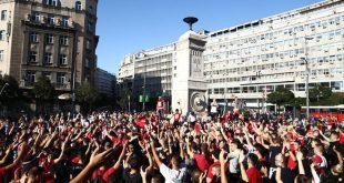 Ξανά μαζί οι οπαδοί του Ερυθρού Αστέρα και Ολυμπιακού στο Βελιγράδι