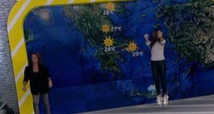 Η Χριστίνα Σούζη χόρεψε τον… χορό της βροχής στο πλατό του Μουτσινά