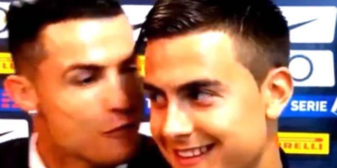Ο Ντιμπάλα μιλούσε στην τηλεόραση και ο Ρονάλντο του έδωσε φιλάκι