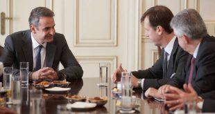 Ενέργεια και περιβάλλον στη συνάντηση Μητσοτάκη με ιταλική αντιπροσωπεία