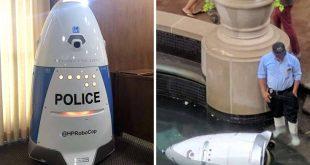Ο ρομποτικός αστυνομικός της Καλιφόρνια δεν τα πήγε καλά στην πρώτη του επαφή με το… έγκλημα