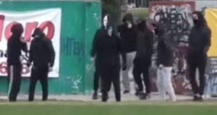 Κουκουλοφόροι μπήκαν σε αγώνα ερασιτεχνικού πρωταθλήματος στη Θεσσαλονίκη