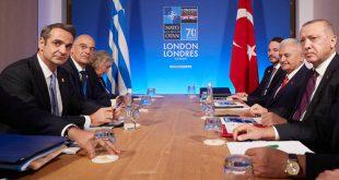 Με παγωμένα χαμόγελα ολοκληρώθηκε μετά από 1 ώρα και 30 λεπτά η συνάντηση Μητσοτάκη – Ερντογάν