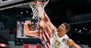Euroleague: Άνευ όρων παράδοση του Ολυμπιακού στη Μαδρίτη
