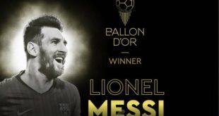 Χρυσή Μπάλα 2019: Νικητής για έκτη φορά ο Λιονέλ Μέσι
