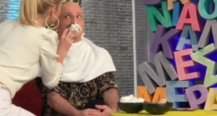 Νίκος Μουτσινάς: Η αρχισυντάκτρια της εκπομπής του ξύρισε το μουστάκι on air