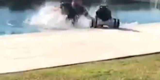 Ξεκαρδιστικό βίντεο με τον Ντιέγκο Κόστα: Έπεσε με το go-kart στην πισίνα