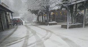 Χιόνισε στα ορεινά του νομού Λάρισας