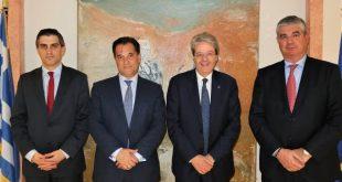 Συνάντηση Γεωργιάδη - Τζεντιλόνι για τις επενδύσεις