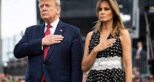 Αέρινη η Μελάνια Τραμπ έκλεψε τις εντυπώσεις με πανάκριβο φόρεμα και δαντελωτή ζώνη