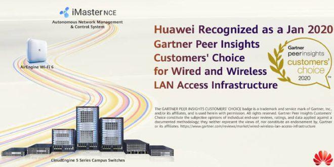 Η Huawei αναδείχθηκε «Gartner Peer Insights Customers' Choice» για τον Ιανουάριο 2020