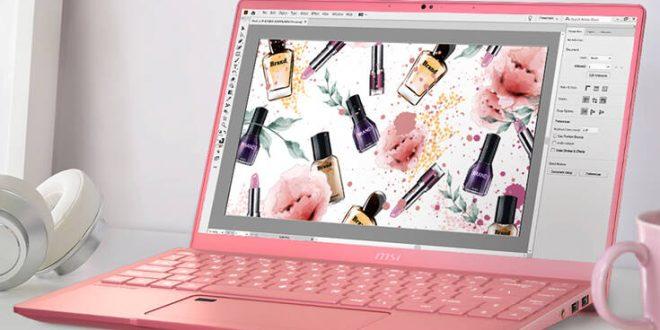 Το δυνατό ροζ laptop