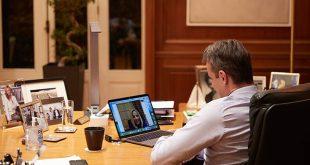 Τηλεδιάσκεψη Κυριάκου Μητσοτάκη - Φώφης Γεννηματά για τον κορονοϊό