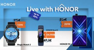 Live with HONOR : Προσφορές σε wearables και στο HONOR 9X έως και -30%