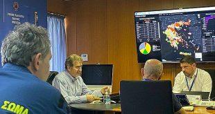 Με επιπλέον μέσα και προσωπικό άρχισε η αντιπυρική περίοδος, σύσκεψη Χρυσοχοΐδη-Χαρδαλιά για τον επιχειρησιακό σχεδιασμό