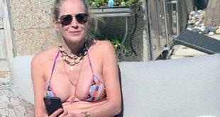 Η Σάρον Στόουν στα 62 της ποζάρει με μικροσκοπικό μπικίνι και ανεβάζει φωτογραφίες χωρίς ρετούς