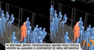 Βίντεο δείχνει πόσο εύκολα μπορεί να μεταδοθεί ο κορονοϊός στα μέσα μεταφοράς