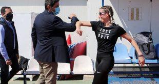 Αυτοψία Αυγενάκη στο ΟΑΚΑ για την εφαρμογή των μέτρων σταδιακής επανεκκίνησης του αθλητισμού