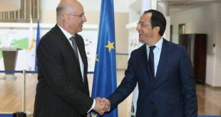 Σε διαρκή συντονισμό Ελλάδας - Κύπρου συμφώνησαν Δένδιας και Χριστοδουλίδης
