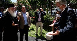 Εικόνες από την επίσκεψη Τζέφρι Πάιτ και Ιερώνυμου στο «Δημήτρειο»