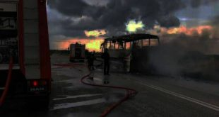 Λαμπάδιασε λεωφορείο στην εθνική οδό, στην Φθιώτιδα