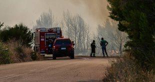 Μεγάλη φωτιά σε δασική έκταση στη Μάνη