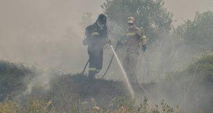 Αναζωπυρώθηκε η φωτιά στα Χανιά - Ισχυροί άνεμοι στην περιοχή