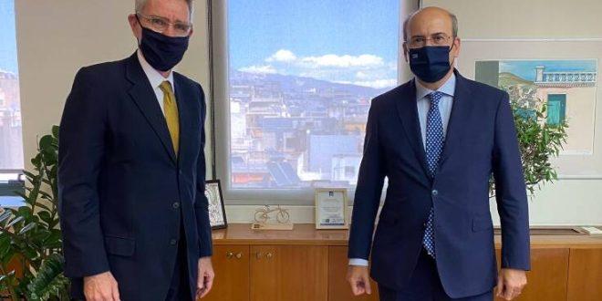 Συνάντηση Χατζηδάκη-Πάιατ - Στο επίκεντρο FSRU Αλεξανδρούπολης και IGB