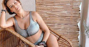 Η Νικολέττα Ράλλη ποζάρει με μαγιό δύο μήνες μετά τη γέννηση της κόρης της