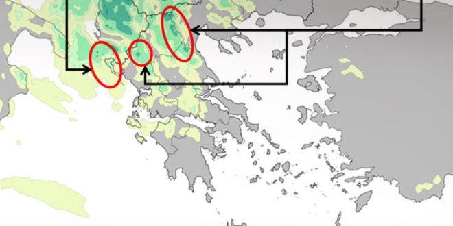 Καιρός: Μεταβολή με βροχές και καταιγίδες - Χάρτης με τις εκτιμήσεις για βροχές και έντονα φαινόμενα