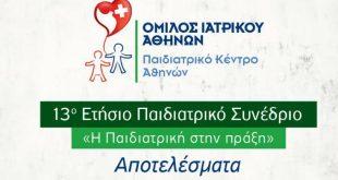 Παιδιατρικό Κέντρο Αθηνών: Συμπεράσματα 13ου Ετήσιου Παιδιατρικού Συνεδρίου