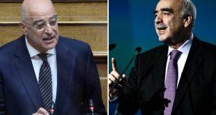Συγχαρητήρια Δένδια σε Μεϊμαράκη για την υπερψήφιση, από το Ευρωπαϊκό Κοινοβούλιο, της αυστηρής επιβολής κυρώσεων στην Τουρκία