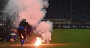 Πέταξαν καπνογόνο σε αγώνα που έγινε σε άδειο γήπεδο