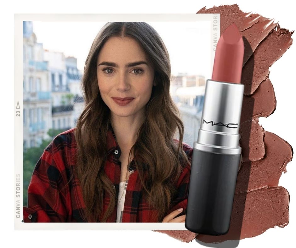 emily in paris lily collins lipstick mac