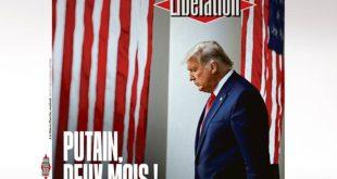 Το καυστικό εξώφυλλο της Liberation για την αποχώρηση Τραμπ που προκαλεί αίσθηση