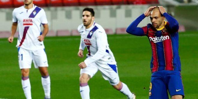La Liga: Η Μπαρτσελόνα γκέλαρε και με την Έιμπαρ και έμεινε στην 6η θέση
