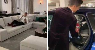 Ο Λεβαντόφσκι πήρε το βραβείο του κορυφαίου ποδοσφαιριστή το έβαλε στο κάθισμα του μωρού στο αμάξι και ξάπλωσε μαζί του