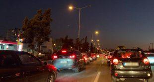 Lockdown: Δείτε φωτογραφίες από το «ποτάμι» αυτοκινήτων στον Κηφισό
