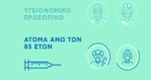 Εμβολιασμός: Ανοίγει το απόγευμα η πλατφόρμα emvolio.gov.gr - Πρεμιέρα για τα ραντεβού των 85 ετών και άνω