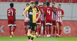 Ολυμπιακός - ΑΕΚ 3-0, ερυθρόλευκο το πρώτο ντέρμπι της χρονιάς